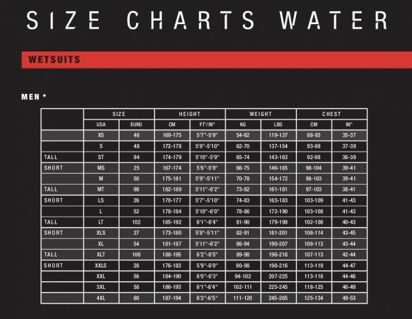 ION mens size guide