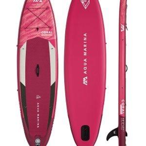 Pink Aqua Marina Coral Paddle Board